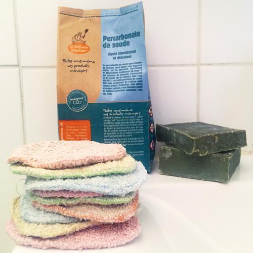 Nettoyer les cotons lavables zéro déchet : Percarbonate de soude détachant blanchissant